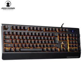 Tsunami Assassins GK-08 Semi-Mechanical Gaming Keyboard (Orange Light) - 5