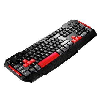 Tsunami Combo Monster Series Gaming Keyboard คีย์บอร์ด+ Mouse เมาส์2in1 Kit (Black/Red) (image 2)