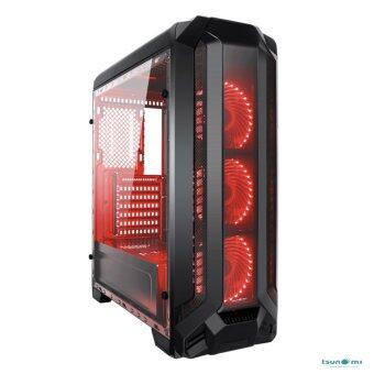 Tsunami Pro Hero K2 Series Full-view tempered glass panel (with 33 PCS LED 12 CM Fan X 3) KR