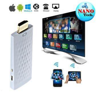 อุปกรณ์เชือมต่อสัญญาณภาพและเสียง ไร้สาย ไปยัง TV HDMI Dongle Wifi Display- สีขาว