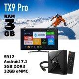 พิษณุโลก ตัวแรง จัดหนัก Tx9 Pro Ram 3 GB  Rom 32GB Amlogic S912 octa core Android 7.1 Tv box built in 2.4G + 5G + Bluetooth dual wifi 4Kplayer