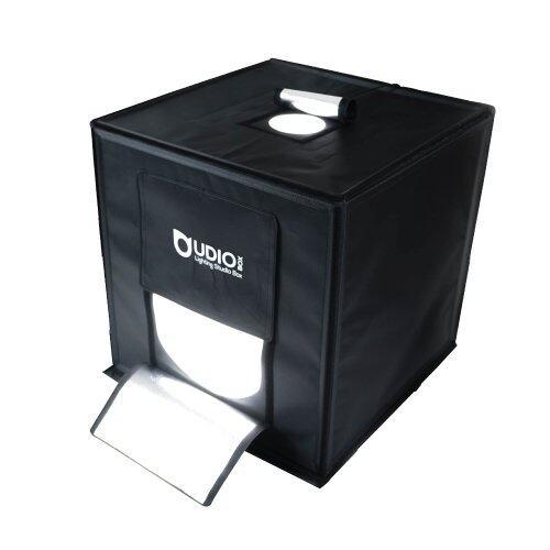 UDIOBOX UDIO BIZ 40x40x40 ซม. สตูดิโอพกพาแบบกระเป๋า พร้อมไฟ LED 4 แถวในตัว ไม่ต้องติดตั้ง ใช้งานได้ภายใน 10 วินาที