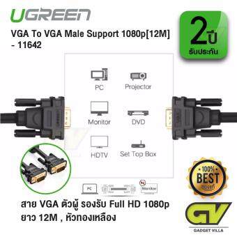 UGREEN รุ่น 11642 สาย VGA ตัวผู้ รองรับ Full HD 1080pยาว 12M
