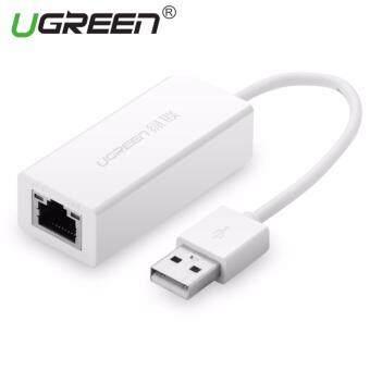 UGREEN USB 2.0 ถึง 10/100สายอีเทอร์เน็ตแลนอะแดปเตอร์เครือข่ายเร็วสำหรับ Macbook ChromebookWindows Mac OS – intl