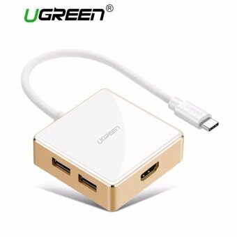 รีวิวพันทิป UGREEN USB C to HDMI AdapterType C to USB A HubUSB 3.1 to HDMI 4KDigital AV Multi Port Converter for New Macbook Macbook Pro 2016Google ChromeBook Pixel 2015 ASUS Zen AiOLenovo Yoga 900DellXPS13 9350 etcWhite - intl
