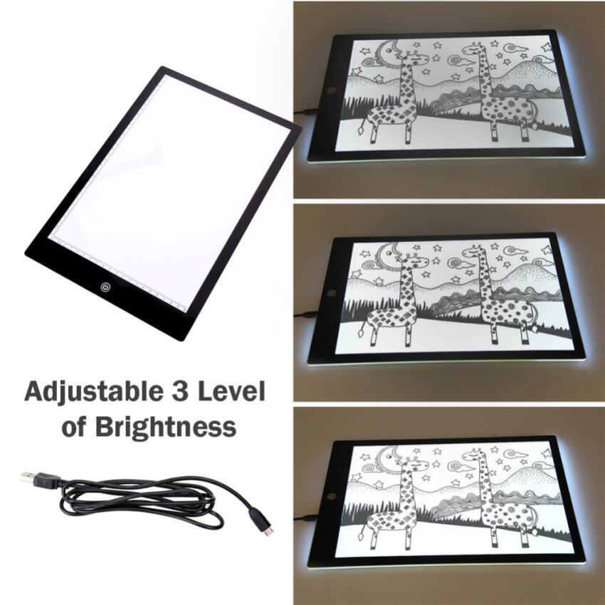 Ultra A4 Slim Light Box Touch LED Tracing Art Graphic Pad Source · Aom Shoppy