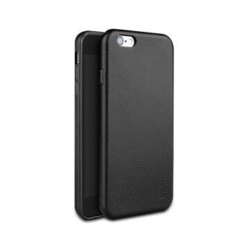 Ultra Thin PU Leather Case for Apple iPhone 6/6S Plus (Black)