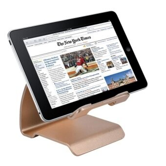 Universal Aluminum Alloy Desk Phone Stand Holder For Mobile Phoneand Tablet Gold - intl