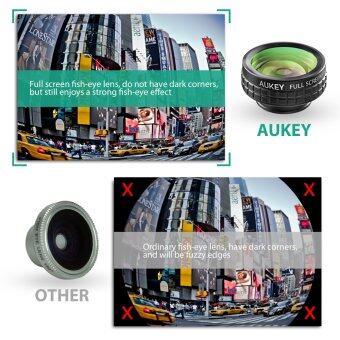 [Upgraded] เลนส์ติดมือถือ Aukey 3 in 1 (180 Degree Fisheye / WideAngle / 10X Macro) เลนส์กล้องมือถือ Smart Phone Lens คุณภาพสูง (image 2)