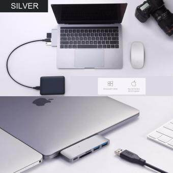 ประกาศขาย USB-C HUB Multifunction Type-C HUB Converter with SD / Micro SD Card Reader 5 in 1 Support PD Charging for MacBook
