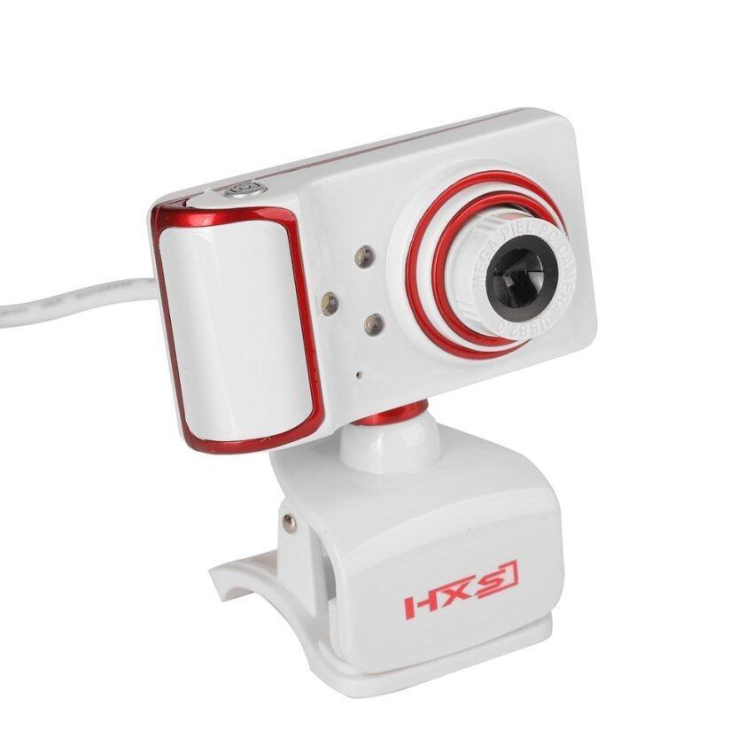 USB Webcam Rotatable Focus Angle Clip Style PC Camera (White)
