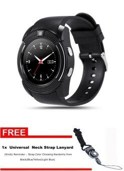 V8 Bluetooth Smart Watch with SIM Card Slot Round IPS Camera Smartwatch for IOS and Android PK GT08 DZ09 U8 - intl
