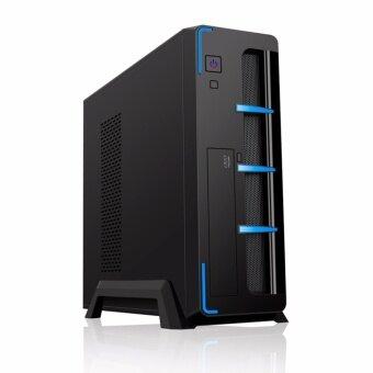 VENUZ Slim micro ATX computer case 103B Black/Blue