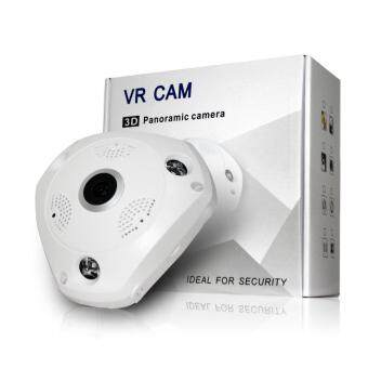 VR CAM 1.3 MP 1080P cctv, กล้องวงจรปิดไร้สาย 3D Panoramic Camera Lens 360°, สีขาว, องศา