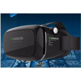 VR Shinecon Virtual Reality Glasses Headset Gear + BluetoothJoystick Remote - intl