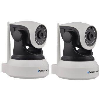 VSTARCAM Eye4 กล้องวงจรปิด IP Camera รุ่น C7824 รองรับ SD CARD 64G 1.0 Mp and IR Cut WIP HD ONVIF - สีขาว/ดำ แพ็คคู่