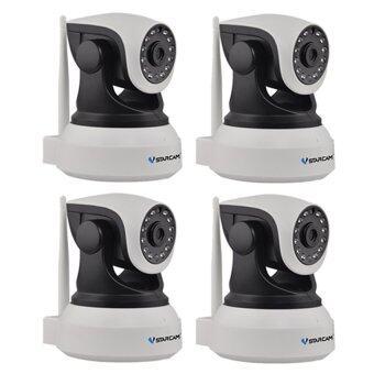 Vstarcam กล้องวงจรปิด IP Camera รุ่น C7824 1.0 Mp and IR Cut WIP HDONVIF – สีขาว/ดำ แพ็ค4 ชิ้น