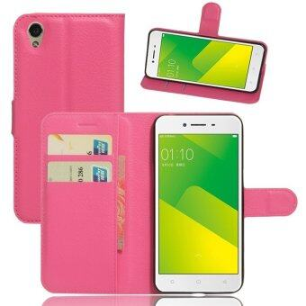 Wallet Flip Leather Case For Oppo A37 / Oppo Neo9 (Rose Red) - intl