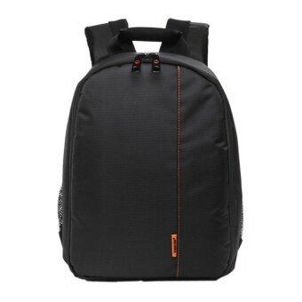 Waterproof DSLR Camera Lens Backpack Case Bag (Orange/Black) - Intl - intl