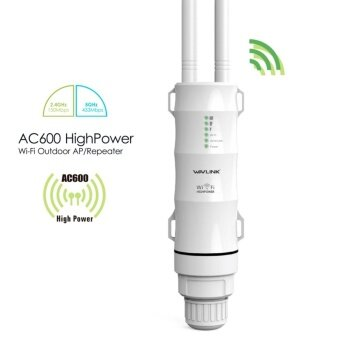 Wavlink AC600 High Power Outdoor Weatherproof CPE Repeater Access Point WISP 2.4GHz 150Mbps 5GHz 433Mbps 12dbi Directional Antenna Passive POE - intl