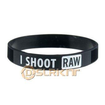 White I SHOOT RAW Photography Silicone bracelet Photographer'sWristband - intl