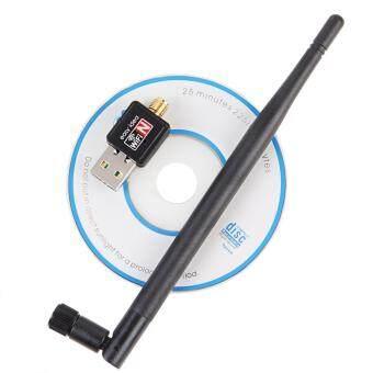 Wifi mini wifi adapter Mini USB WiFi 150Mbps Wireless Adapter 150MComputer LAN Card 802.11n/g/b with Network Card Antenna (Black)