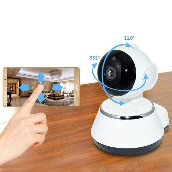 Wireless IP Camera WIFI 720P CCTV Home Security Cam Micro SD Slot Support Microphone & P2P Free APP ABS Plastic - intl