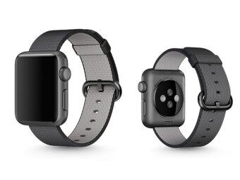 Woven Fabric Loop Strap Nylon Watch Band for Apple Watch 42mm inBlack - 2 ...