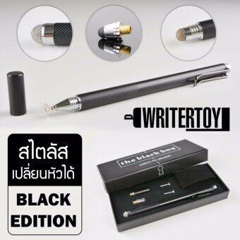 WRITERTOY ปากกา iPad ปากกา Stylus ปากกาสไตลัส เปลี่ยนหัวได้ สำหรับเขียนไอแพด ไอโฟน และแท็บเล็ตทุกรุ่น รุ่น Hybrid silver version 4.0 ชุด PRO classic black limited edition (สี classic black)