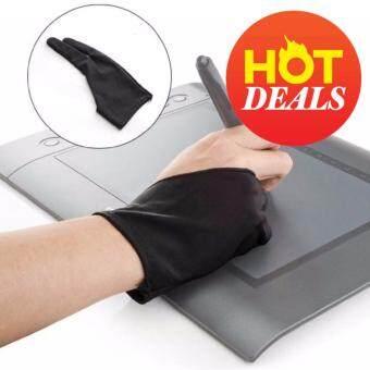 WRITERTOY ถุงมือกันจอสำหรับวางมือเขียนบนแท็บเล็ต Super glove (สีดำ)