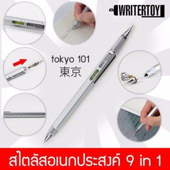 WRITERTOY tokyo 101 ปากกา iPad ปากกา Stylus ปากกาสไตลัส เปลี่ยนหัวได้ สำหรับเขียนไอแพด ไอโฟน และแท็บเล็ตทุกรุ่น stylus อเนกประสงค์ เขียน วาด ipad iphone android พร้อม ไขควง ปากกาลูกลื่น ไม้บรรทัด