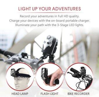 Xcsource กล้องติดจักรยาน 1080P Bike Video Recorder 5MP + 6000K DualLED Headlamp