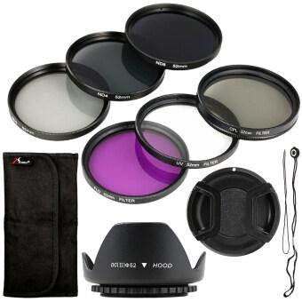 XCSource ชุดฟิลเตอร์ (9ชิ้น) + Lens Hood + Camera Cap 52mm สำหรับNikon D7100 D5200 D3200