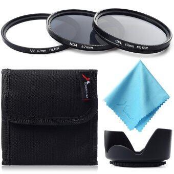 XCSource ฟิลเตอร์ UV CPL ND4 + เลนส์ฮูด 67mm สำหรับ Canon 1200D1100D 700D 70D 60D 50D