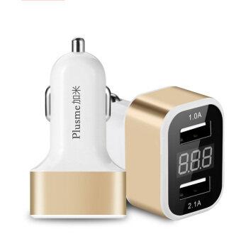 ต้องการขาย XHLEIA Universal 12V 24V To 5V Intelligent Dual USB Car Charger with LED Screen for iPhone Samsung Huawei iPad Smartphones