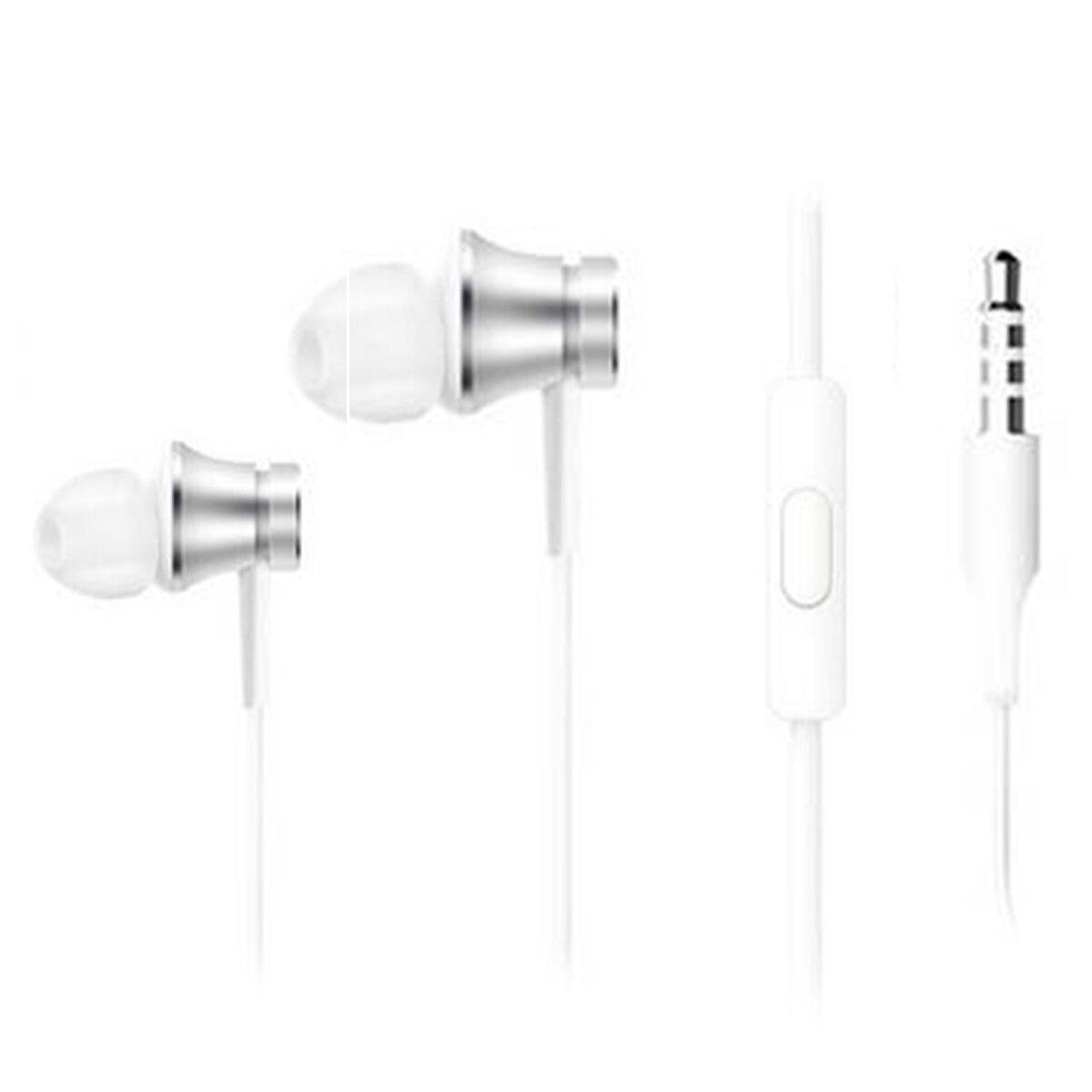 ยี่ห้อนี้ดีไหม  นครปฐม Original Xiaomi รุ่นพื้นฐาน 3.5 มม.หูฟังแบบ in-ear W/MIC-SILVER