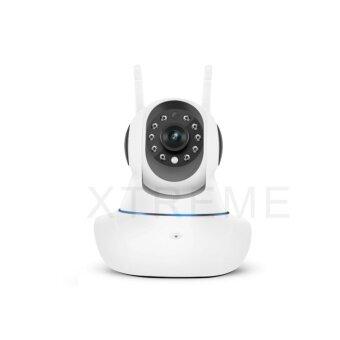 Xtreme P2P CCTV PTZ กล้องวงจรปิดไร้สาย IP Camera / Wifi / Lan Port / Day&Night / Infrared / อินฟราเรด / ความละเอียด1.3 ล้านพิกเซล / HD 960P / ติดตั้งด้วยระบบ Plug And Play / มีเสาสัญญาณ 2 เสา / สามารถจับภาพในที่มืด / มีไมโครโฟนและลำโพงในตัว (image 1)