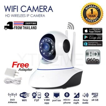 อยากขาย Xtreme P2P CCTV PTZ กล้องวงจรปิดไร้สาย IP Camera / Wifi / Lan Port / Day&Night / Infrared / อินฟราเรด / 1.3 ล้านพิกเซล / HD 960P / ติดตั้งด้วยระบบ Plug And Play / มีเสาสัญญาณ 2 เสา / สามารถจับภาพในที่มืด / มีไมโครโฟนและลำโพงในตัว / FREE Adapter