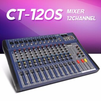 Xtuga CT120S-USB 12 Channels Mic Line Audio Mixer Mixing ConsoleUSB XLR Input 3-band EQ 48V Phantom Power with Power Adapter - intl