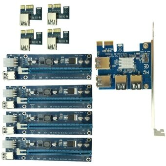 YBC PCIe 1 to 4PCI Express 16X slots Riser Card PCI-E 1X to External 4 PCI-e slot Adapter - intl