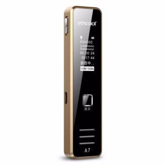 Yescool A7 8 กิกะไบต์มินิแผงกระจกเสียง denoise lossless varispeed เครื่องบันทึกเสียงพกพาทอง/สีดำ