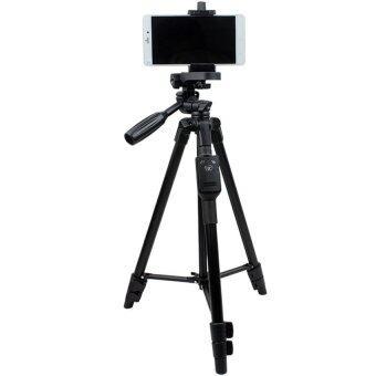 YUNTENG ชุด ขาตั้งกล้อง พร้อมรีโมทบลูทูธ หัวต่อมือถือในตัว รุ่น VCT-5208 (สีดำ)