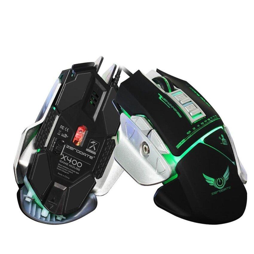 ขายดี ZERODATE X400 3200DPI Optical Wired Gaming Mechanical