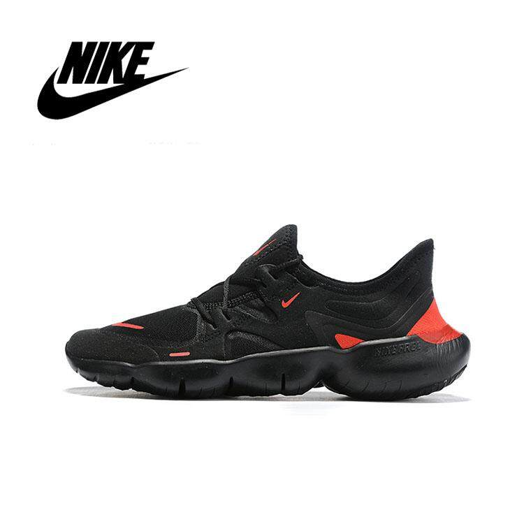 best cheap 927b3 cf3f1 New Arrival NIKE FREE RN 5.0 Men's Running Shoes Sport Outdoor Sneakers  Black red