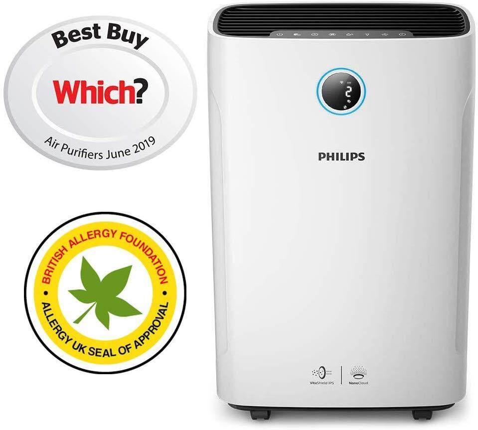 ยี่ห้อไหนดี  หนองคาย เครื่องฟอกอากาศ และควบคุมความชื้น Philips Series 3000i 2-in-1 Purifier & Humidifier