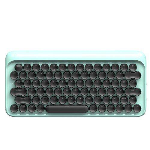 การใช้งาน  พะเยา Vintage Keyboard Retro Keyboard LOFREE DOT Bluetooth Wireless Mechanical Keyboard for Mac  Android  Windows with Gateron Blue Switch and Rechargeable Battery (Blue)