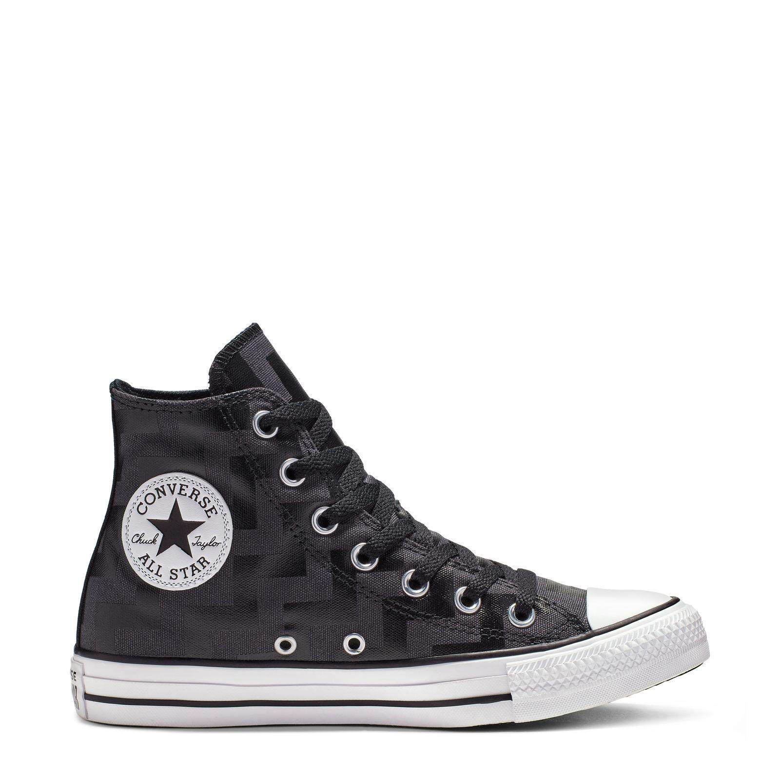 ยี่ห้อไหนดี  กาฬสินธุ์ CONVERSE CHUCK TAYLOR ALL STAR GLAM DUNK - HI - BLACK/ALMOST BLACK/WHITE - WOMEN - 565212C - 565212CF9BK