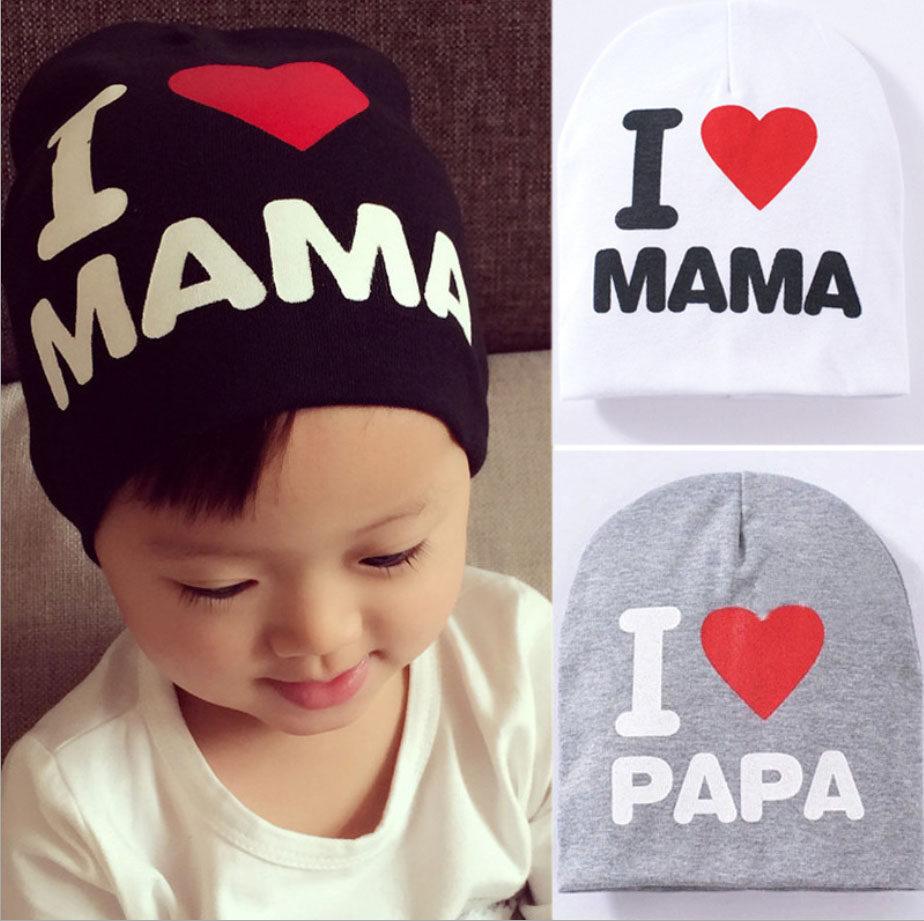 หมวกเด็ก I LOVE MAMA, I LOVE PAPA