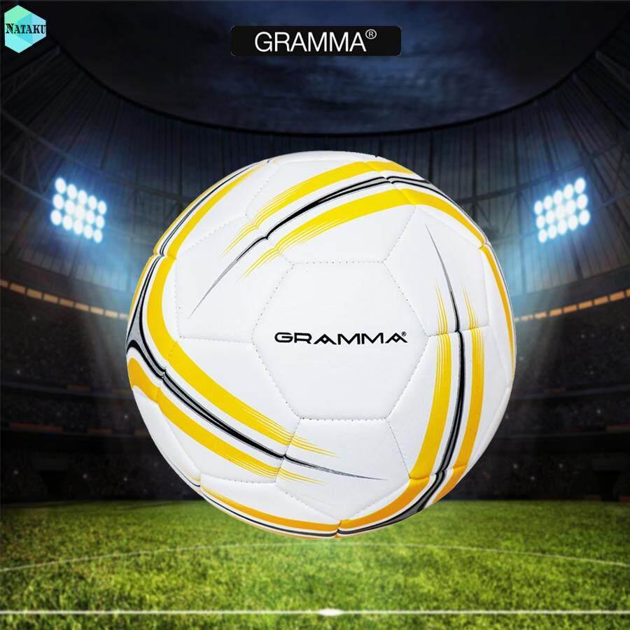 สอนใช้งาน  แม่ฮ่องสอน ลูกบอล ลูกฟุตบอล ฟุตบอล Football GRAMMA เบอร์ 5 หนังเย็บ ลูกฟุตบอลหนังเย็บ