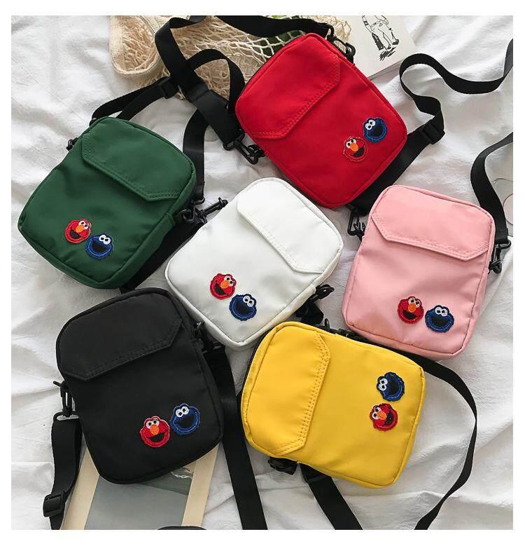 กระเป๋าเป้สะพายหลัง นักเรียน ผู้หญิง วัยรุ่น ปัตตานี กระเป๋าสะพายข้างผ้าไนล่อนเอลโม่สุดน่ารัก B982